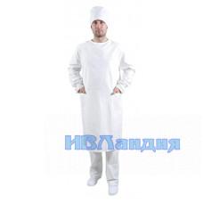 Халат хирурга белый (Бязь)
