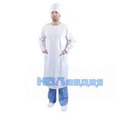 Халат хирурга белый (Тиси)