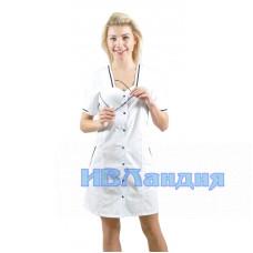 Халат медицинский женский «Оптима» 2 Расцветки