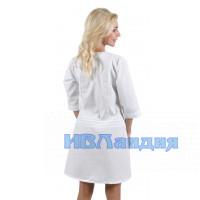 Халат медицинский женский «Флора»  (белый)